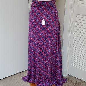 Disney LulaRoe Hidden Unicorn Floral Skirt NWT